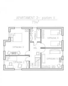 apartament 2- rzut poziom II
